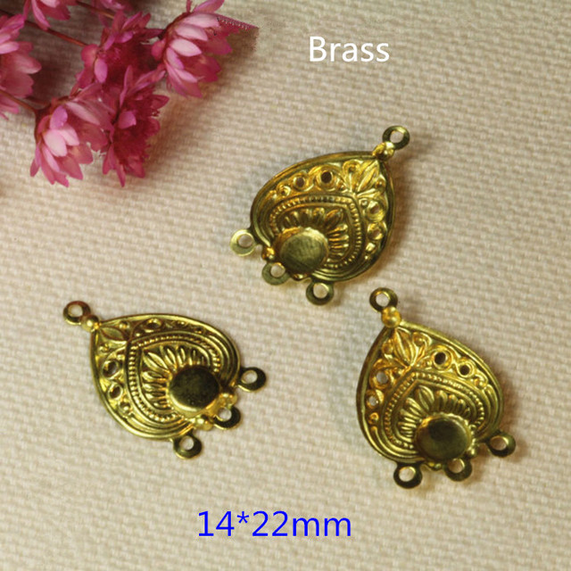 60 pcs brass stamping jewelry connectors1422mm raw brass 60 pcs brass stamping jewelry connectors1422mm raw brass chandelier earring supplies mozeypictures Gallery