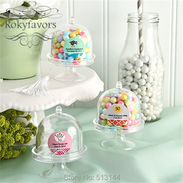 mini wedding cakes shipped free shipping 50pcs transparant clear mini cake stand 17430