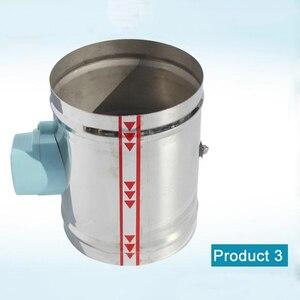 Image 4 - 125 millimetri in acciaio inox aria serranda valvola HVAC condotto di aria elettrica motorizzato damper per 5 pollici tubo di ventilazione valvola 220V valvola dellaria