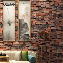 Wallpapers Youman 3D Vinyl Brick Wallpaper For Walls  In Rolls Three-dimensional Retro Culture Stone Non-self-stick