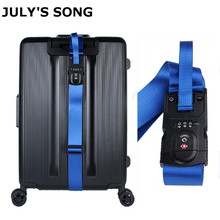 JULY'SONG Multifunctional Travel Luggage Strap Weighed customs Password lock Suitcase Strap Belt Adjustable Travel Accessories july song travel weighing scale password luggage strap adjustable and multifunctional suitcase belt sturdy travel accessories