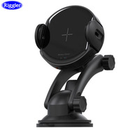 Auto Clamp Car Wireless Charger Riggler 15W Fast Charging Holder for Iphone XS MAX XR XS X 8 Plus Samsung S9 S8 Note9 Note 8