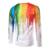 Moda Casual Impressão 3d T-Shirt dos homens de Manga Longa Camiseta Slim fit Personalidade espirrou tinta splash-tinta tshirt 3D padrão
