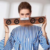 wireless bluetooth speaker Retro Wooden TV Soundbar Stereo bass loudspeaker desktop PC computer boombox USB FM Radio sound box