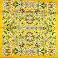 2015 Желтый Марка Шелковый Платок Шарф Отпечатано Для Женщин Чистый Шелк Саржевого Большой Площади Шарф Осень Бабочки Шарф Обертывания