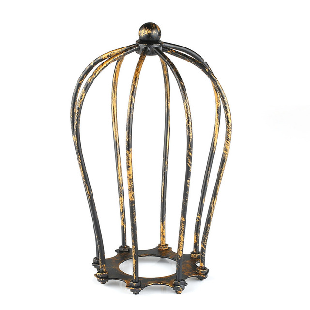 NEW Bronzed Vintage Metal Iron Wire Bulb Cage Lamp Guard Shade For Lights Industrial Free Shipping ...