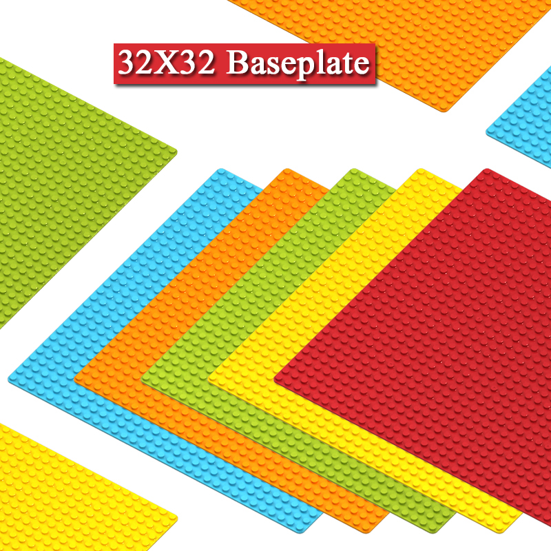 Classic 32*32 Dots Small Size Baseplate Base Plate Board Parts City DIY Construction Building Blocks Bricks Toys For Kids Gifts
