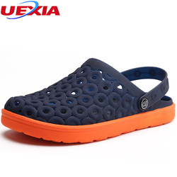 UEXIA Men Slip On Crocus Clogs Hospital Work Sandals Men Garden Clogs Summer Shoes Mules Clogs Breathable Beach Slippers Male