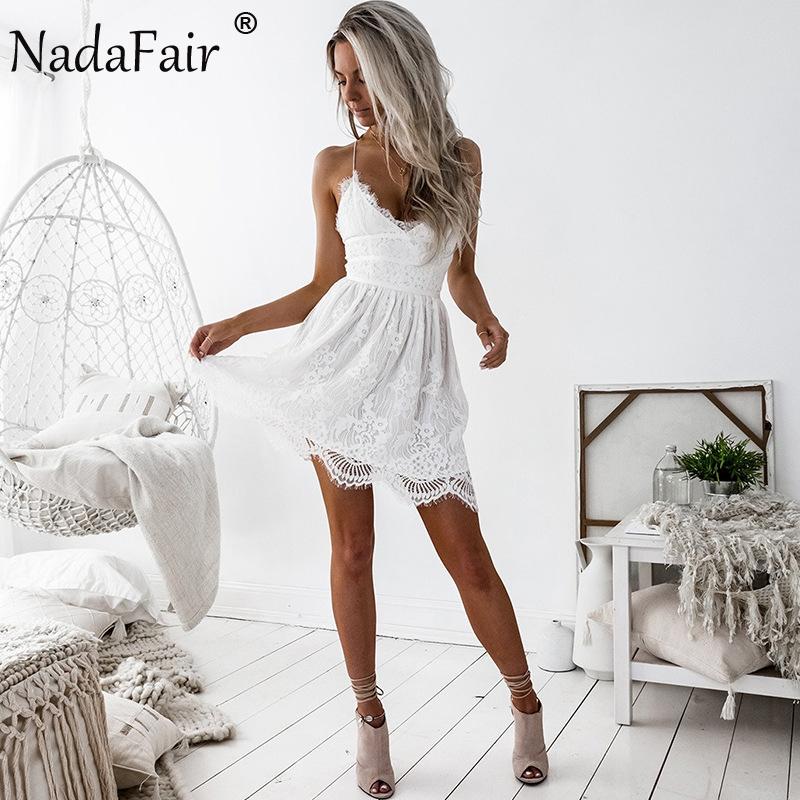 HTB1GsKQagsSMeJjSspcq6xjFXXau - FREE SHIPPING Party Dress Sleeveless Lace-up Backless V Neck White Black 142
