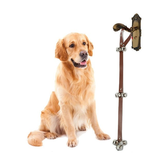 Leather Dog Doorbells Pet Dog Potty Training Bells High Quality Dog Bell  Training Rope With Bells