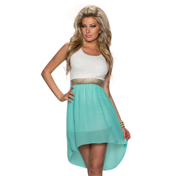 Drop Shipping New Arrival Women Vestidos Sexy Chiffon Summer Style Sleeveless Mini Dress