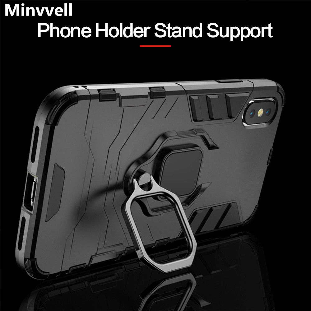 4 In 1 Shockproof Case For IPhone 6 6S 7 8 Plus XS Case For IPhone X 5 5S Se XS Xs Max XR Magnetic Phone Finger Holders