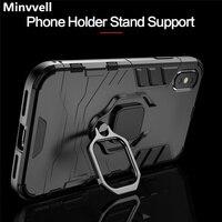 Custodia antiurto 4 In 1 per iPhone 6 6S 7 8 Plus XS custodia per iPhone X 5 5s Se XS Xs Max XR supporti magnetici per telefono