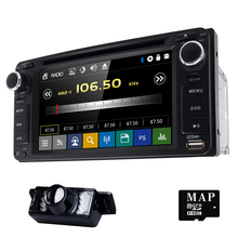 2 DIN 6.2 дюймов 200*100 dvd-плеер GPS + BT + Радио + Сенсорный экран + ПК автомобиля + Aduio + стерео + видео для Toyota Hilux Vios Camry Corolla