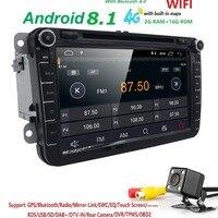 Android 8.1 8 2din Car DVD for VW POLO GOLF 5 6 POLO PASSAT B6 CC JETTA TIGUAN TOURAN EOS SHARAN SCIROCCO CADDY with 4GGPS Navi
