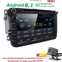 Android 8,1 8 2din автомобильный DVD для VW POLO Golf 5 6 POLO PASSAT B6 CC Jetta Tiguan блок EOS SHARAN SCIROCCO CADDY с 4 ggps Navi