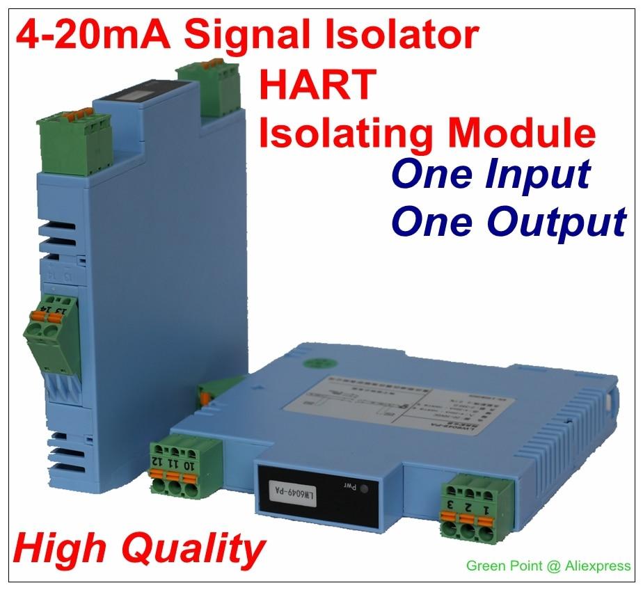 New 4 20mA Signal Isolator Signal Blocker Transmitter HART Signal Isolation Module With One Input One