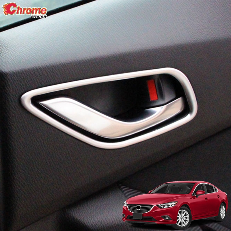 Fit For Mazda 6 GJ 2017 Chrome Door Handle Bowl Cover Cup Trim Insert Garnish