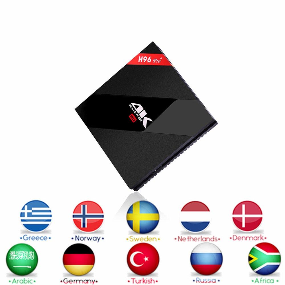 Italia H.265 IPTV H96 Pro + Android 6.0 TV BOX 4 K HDMI 2.0 Amlogic S912 Cortex-