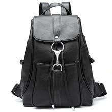 الإناث على ظهره شرابات جلد البقر على ظهره ترصيع حقيبة السفر الحقائب المدرسية حقائب الظهر السوداء المضادة للسرقة تصميم