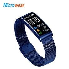 Microwear X3 Smart Wristband Heart Rate Monitor Smart Band IP68 Waterproof smart fitness bracelet Blood Pressure Measure Watch цена и фото