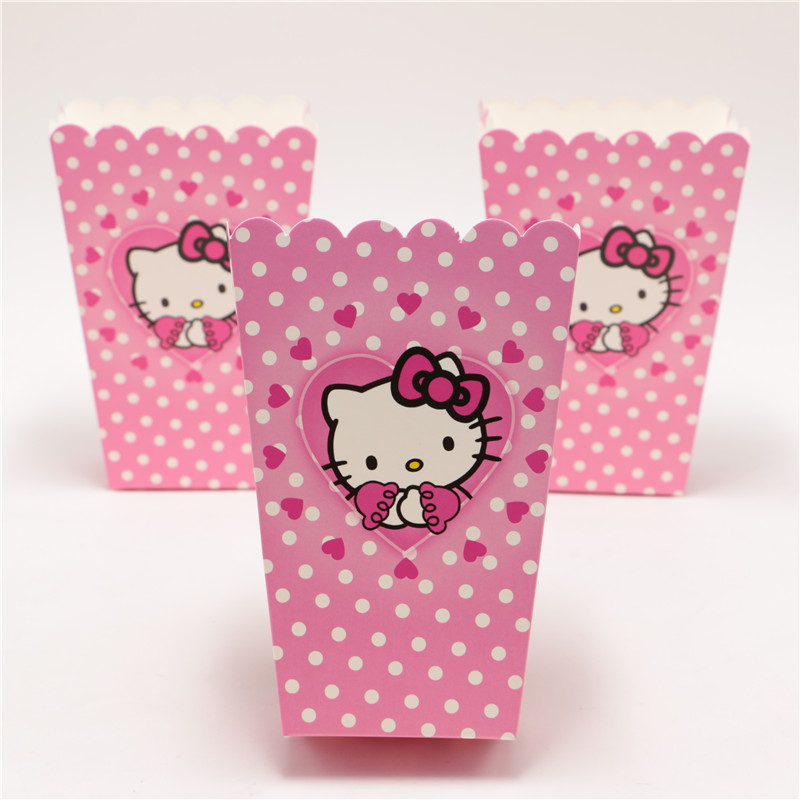 199ffda725db 6pcs lot Kids birthday party decorations hello kitty cute food candy  popcorn box cup baby shower favors for girls Wholsale-in Gift Bags   Wrapping  Supplies ...
