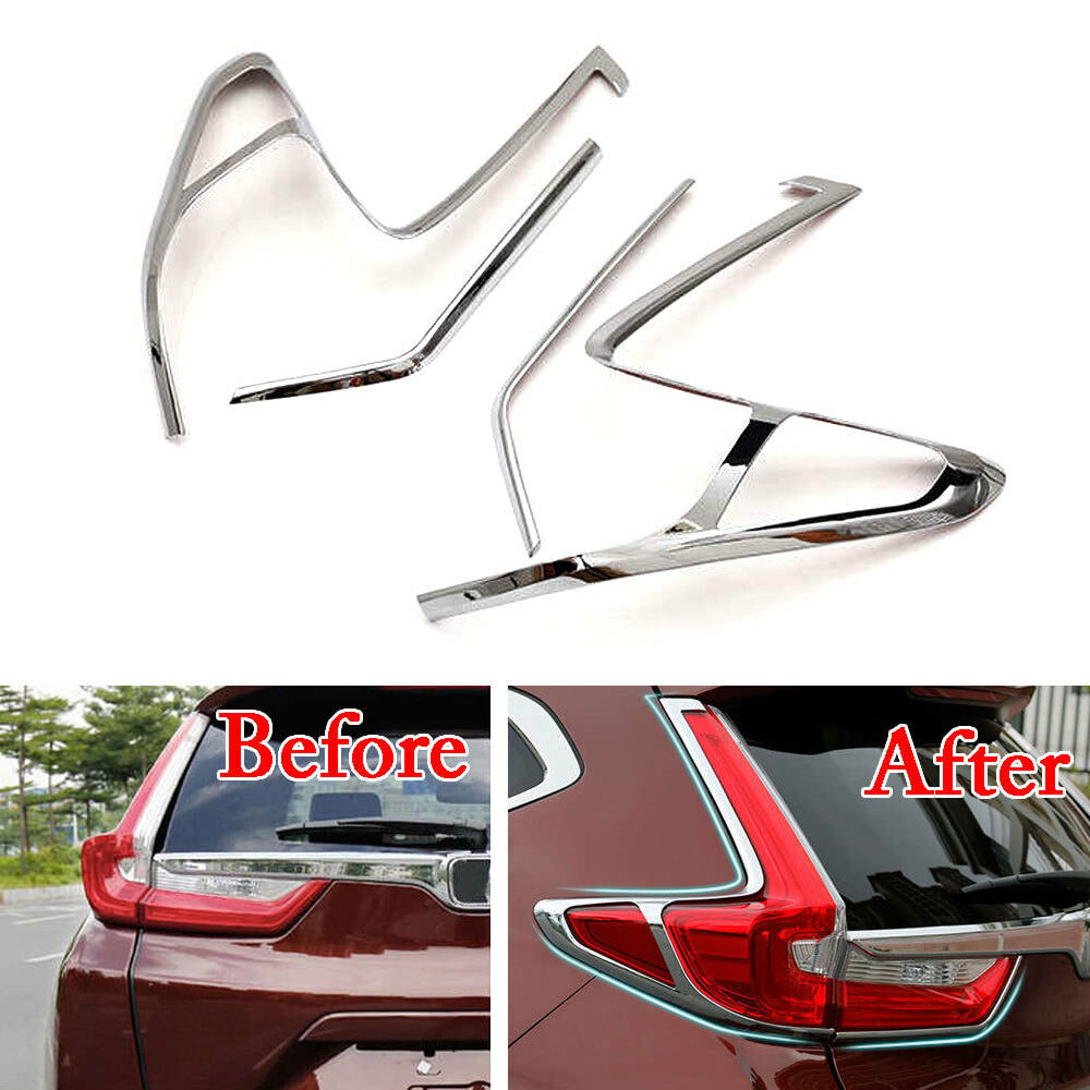 New ABS Chrome Auto Car Rear Tail Light Lamp Covers Trim for 2017 Honda CRV Exterior Car moulding Car styling