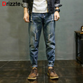 Drizzte Mens Vintage Retro Distress Ripped Jeans Blue Denim Harem Jean Pants Trousers for Men 28-42