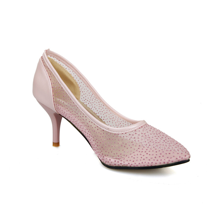 Hauts Chaussure rose Sapato blanc Femmes Dames Tacon Style Size34 Grand Femme Talons Plus Zapatos 51 Pompes Mujer 201 À Feminino Chaussures Noir 2017 x4pq1TwgP
