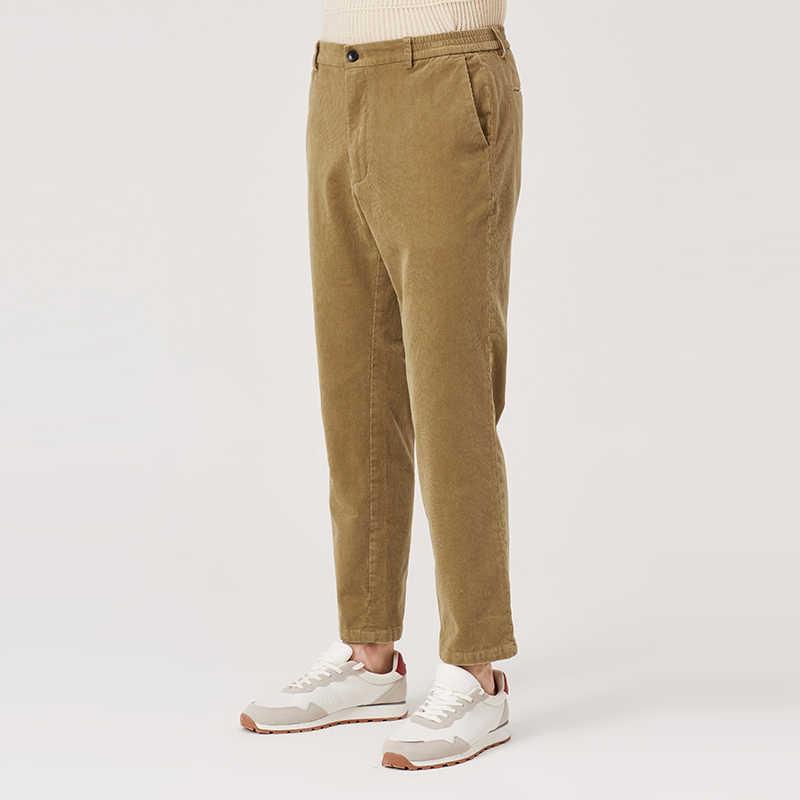 Markless typu chino spodnie bawełniane mężczyzn 2018 jesień Khaki proste spodnie na co dzień S-XXL męskie długie spodnie pantalon homme CLA8818M
