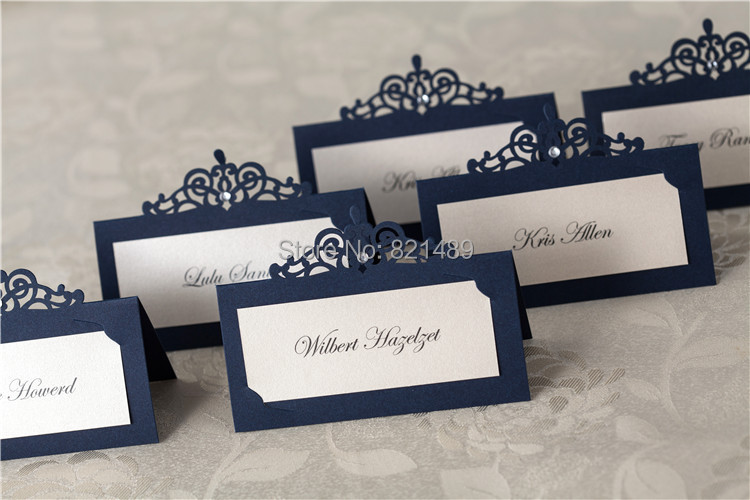 Royal Blue Place Cards Print Your Guest Names Jpg