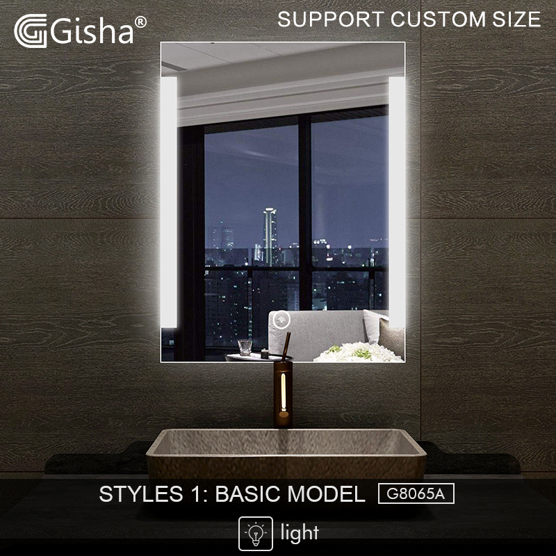Honesty Gisha Smart Mirror Led Bathroom Mirror Wall Bathroom Mirror Bathroom Toilet Anti-fog Mirror With Bluetooth Touch Screen G8065 Home Improvement