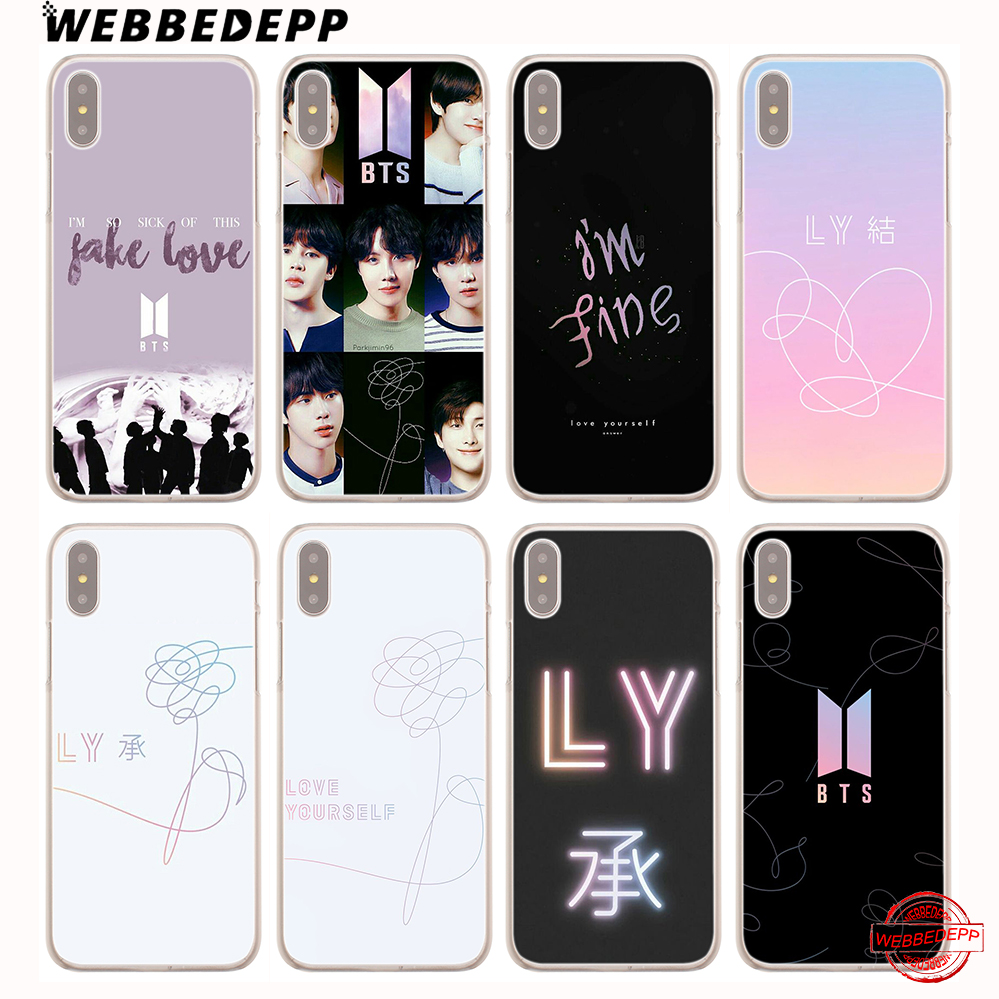 Fulcol Bts Yourself Fake Love Bangtan Boys Patterned Hard Case Cover For Iphone 5 Se 6s Plus 7s Plus 8 Ten X Xr Xs Max Cellphones & Telecommunications Phone Bags & Cases