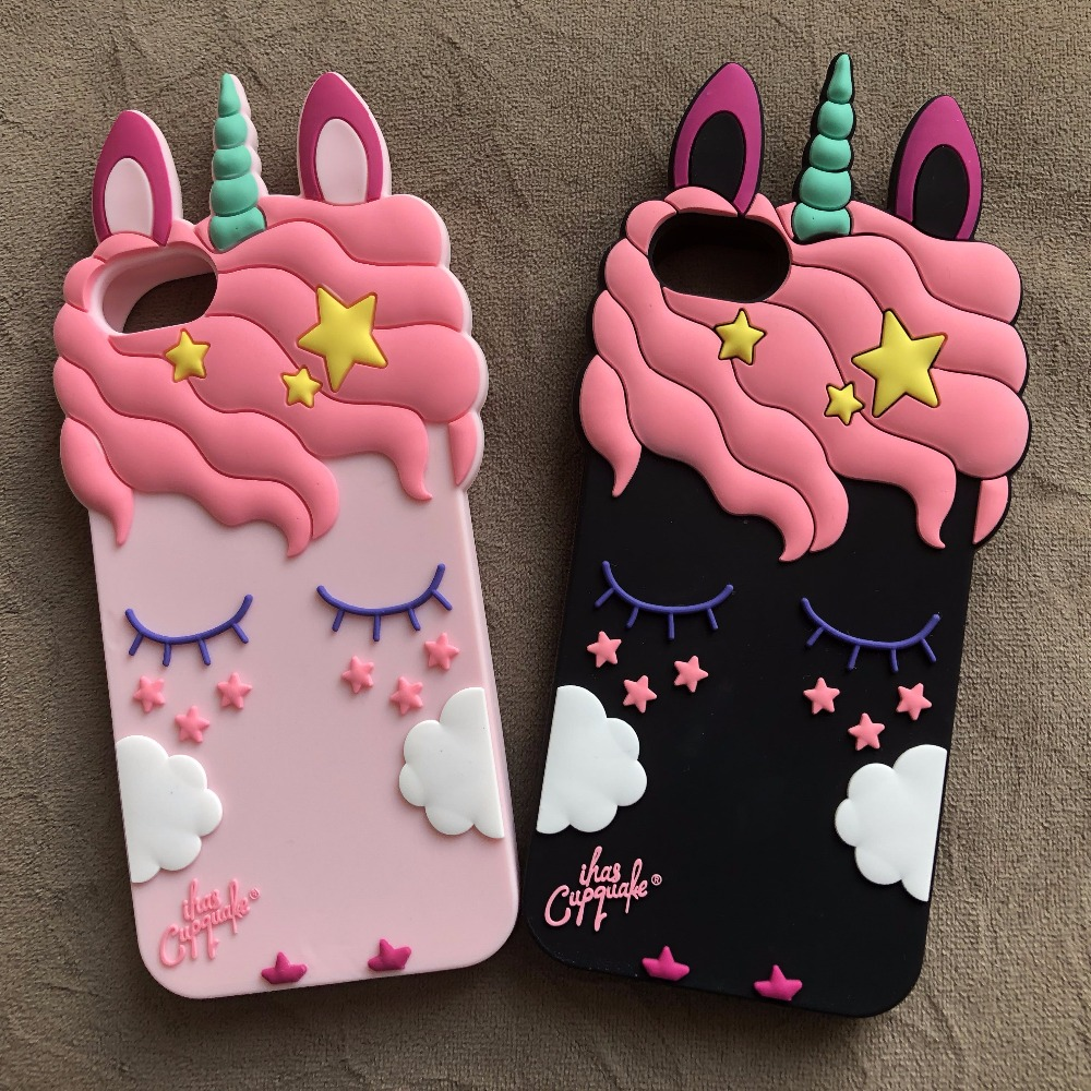 3D Cartoon Pink Unicorn Soft Silicone Case For Xiaomi Redmi 3 3S 3X 4A 4X Pro Case For Redmi Note 3 4 4X Phone Case