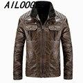 Leather Jacket Men's PU Leather jackets Men jaqueta de couro classic Vintage Punk Veste Homme motorcycle Coat Plus Size XXXL