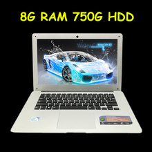 1920X1080P FHD Screen 8GB+750GB Windows 7/8/10 Ultrathin Laptop Notbook Computer Quad Core Up to 2.42 GHz Fast Run for office(China (Mainland))