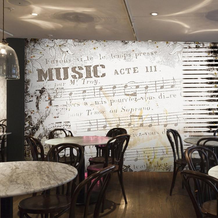 Custom 3d mural 3D black White Retro European music room theme restaurant hotel bedroom living room sofa TV wallpaper mural