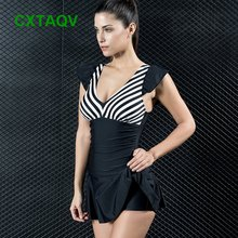 Swimwear Cover Push-Ups The Outlet Slim Striped Tights Belly Comfortable-Design High-Elastic
