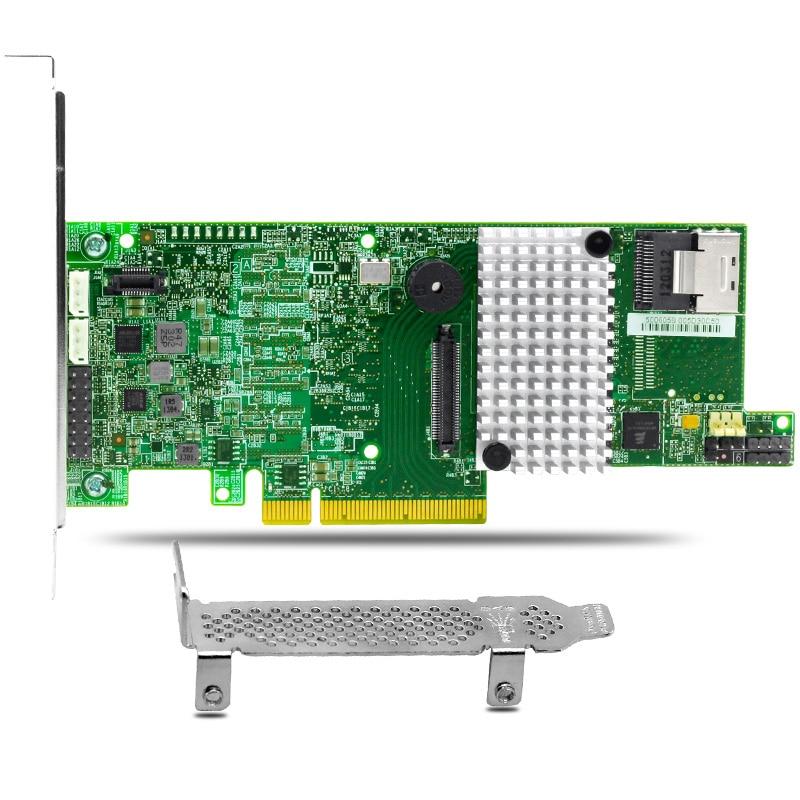 MegaRAID 9266-4i 4 Ports 6Gb/s SATA3.0 SAS Raid Controller Card 1GB Cache DDRIII sas card megaraid sas 84016e 16 256mb cache sas array card 100