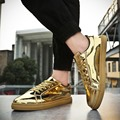 2017 Air Men Casual Shoes Durable Outdoor Lace-Up Sapato Casuais Superstar Glossy Gold Men Shoes Men trainers Tenis Hombre