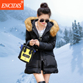 New Arrival Women Coat Winter Cotton-padded Fur Collar Parka coats Fashion Lady warm Jackets M70