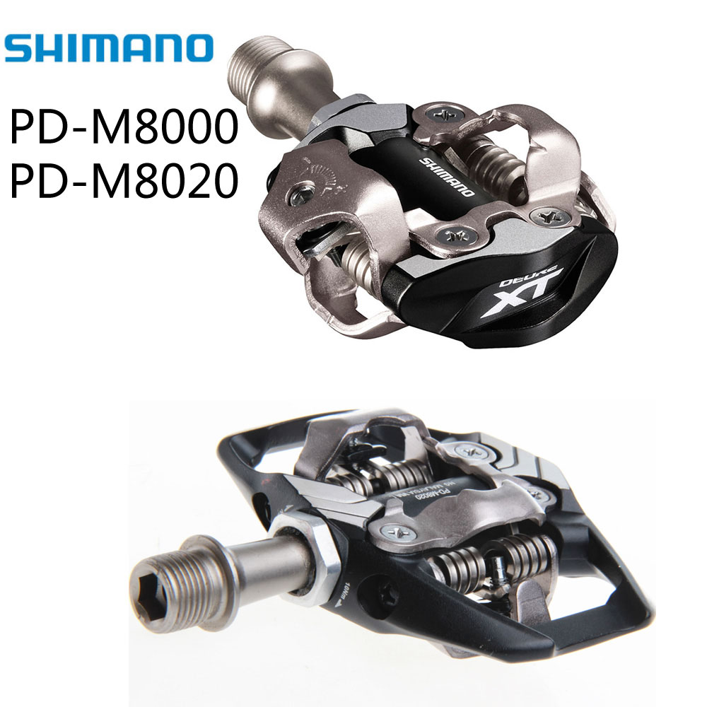 Shimano XT PD M8000 M8020 SPD Self-Locking Cycling Mountain MTB Bike Pedales Clip Components for Bicycle Racing Cleats Parts shimano deore xt pd m8000 self locking spd pedals mtb components using for bicycle racing mountain bike parts