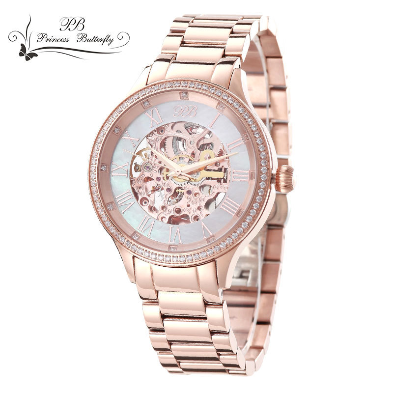Hot Sale Famous  BP Brand Princess Butterfl Element Crystal Classical Lover Stainless Steel Watch Mechanical Watch фигурка princess lover yu fujikura