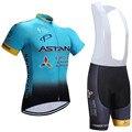 Nuevo 2017 astana ciclismo jersey bike shorts ropa Ciclismo Maillot bicicleta de secado rápido pro cycling wear mens traje Culotte