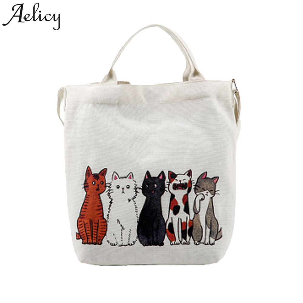 Bags For Large White Canvas Tote Bag Fabric Cotton Cloth Reusable Shopping Bag Printed Beach Handbags