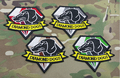 1 pcs Metal Gear Solid 5 Diamond Dogs Movie Magic Tape Embroidered Patches For Clothes Garment Applique DIY Accessory
