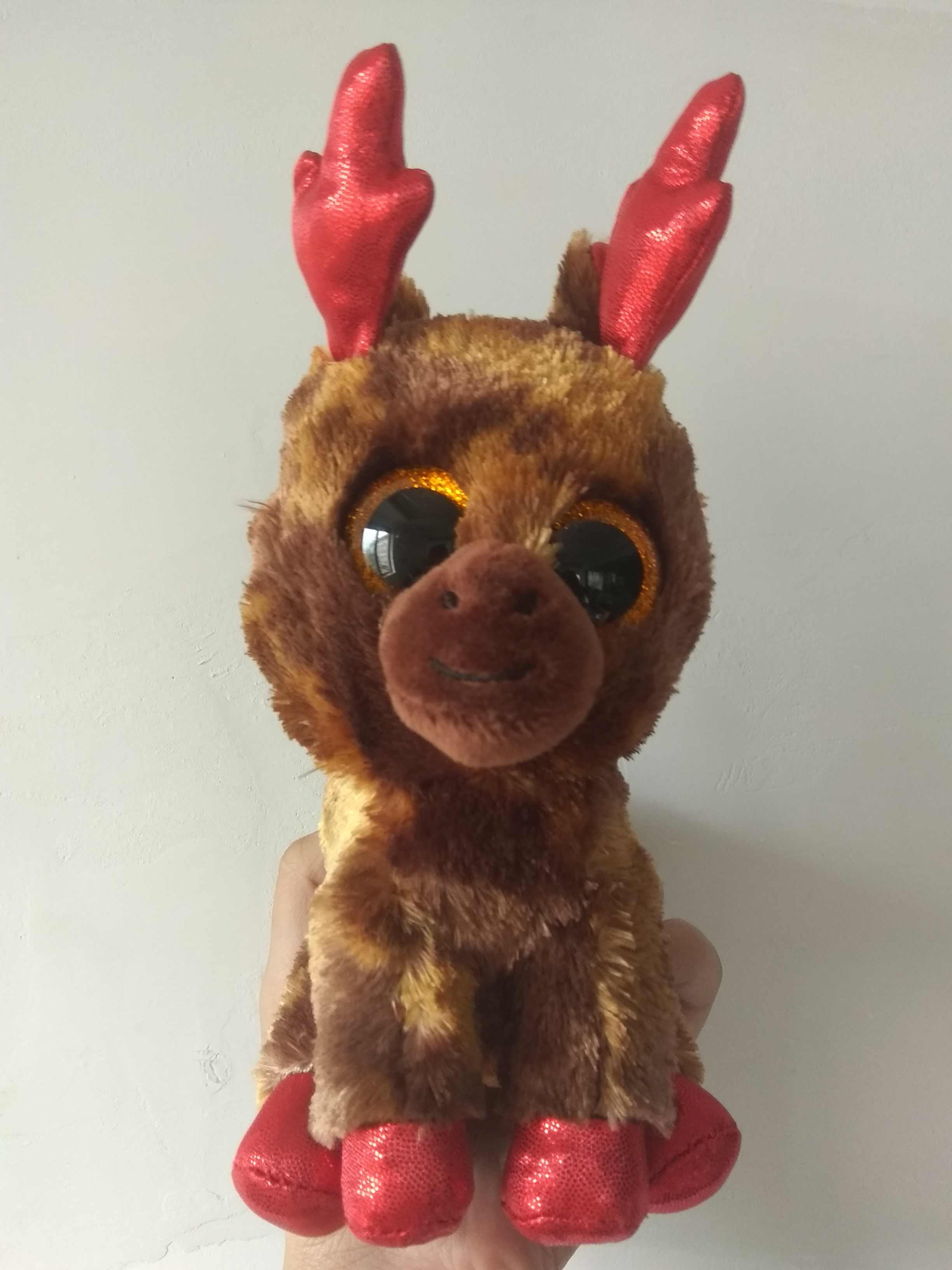 28b18fc2833 Detail Feedback Questions about 10 15CM Original Ty Beanie Boos Original Big  Eyes Plush Stuffed Animal reindeer Kids Toy Birthday Gift Plush Toy  Christmas ...