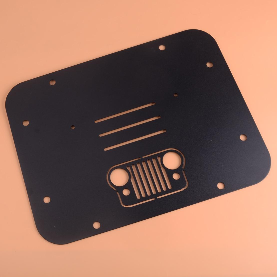 CITALL noir acier voiture Auto de rechange pneu transporteur supprimer plaque de remplissage Tramp timbre adapté pour Jeep Wrangler JK JKU 2007 2018
