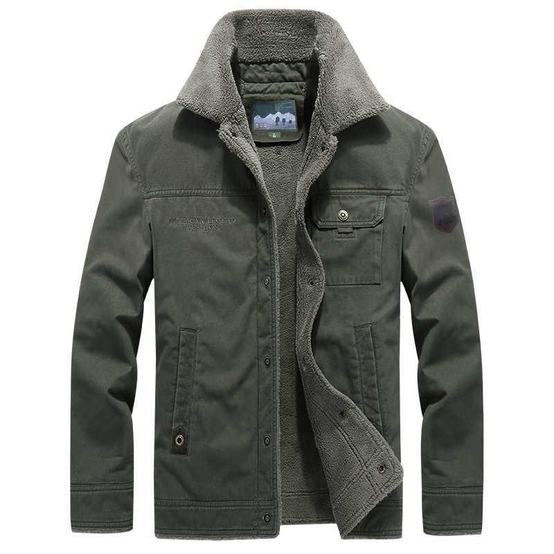 2019 зимняя верхняя одежда, куртка для мужчин, утепленная шерстяная подкладка, мужское теплое пальто, ветровка, Военная Мужская куртка, chaqueta hombre, большие размеры, M-6XL