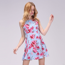 2017 Spring Vintage Floral Dress Women Casual Spaghetti Strap Dresses Female Beach Mini Dress For Women Large Size Sexy Vestidos